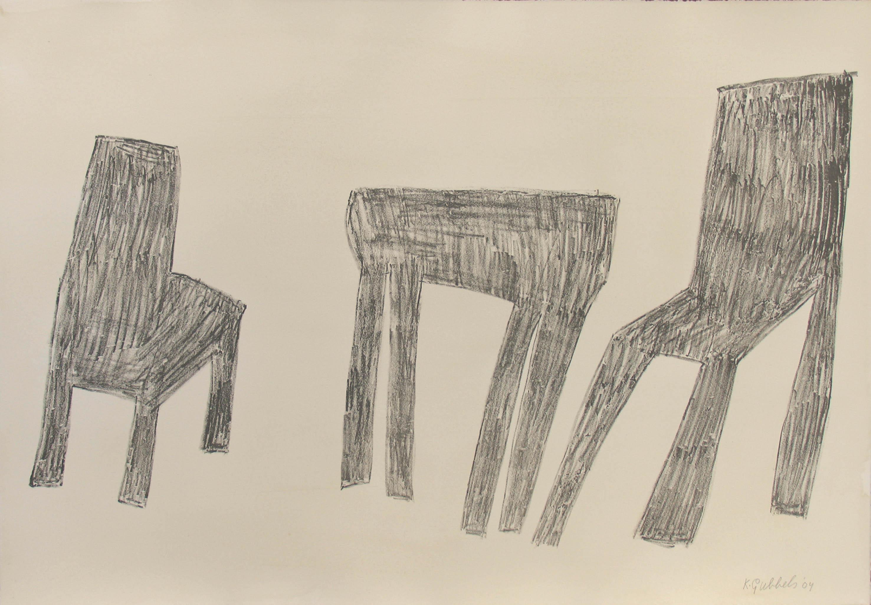 z.t (Tek. tafel met stoelen) (2004)