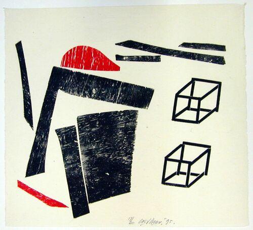 z.t. (vorm met twee kubussen) (1995)