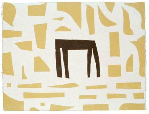 z.t. (Zwarte tafel voor beige achtergrond) (1999)