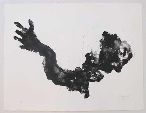 Gestalt (hoofd kijkt weg van arm) (2007)