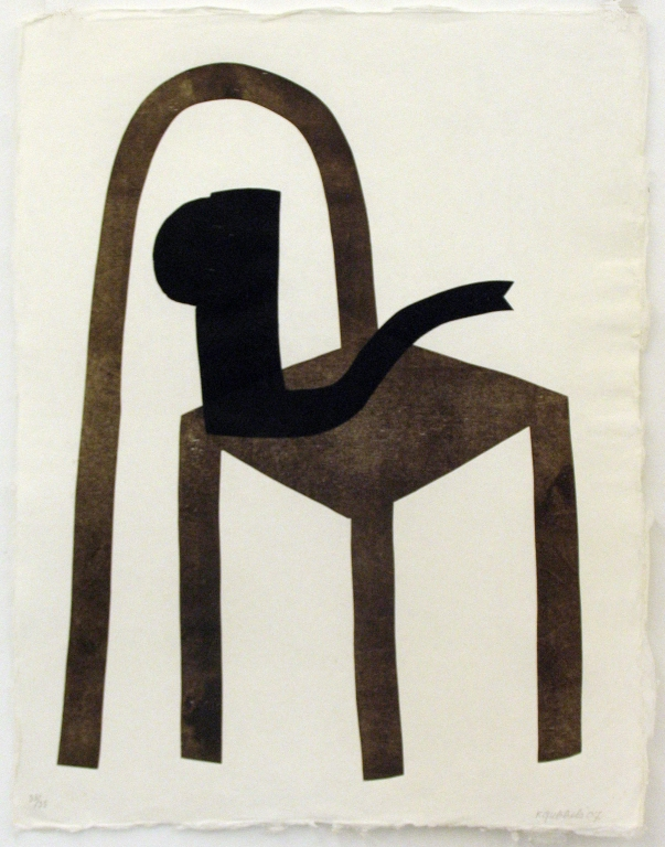 z.t. (stoel met zwarte kan) (2007)