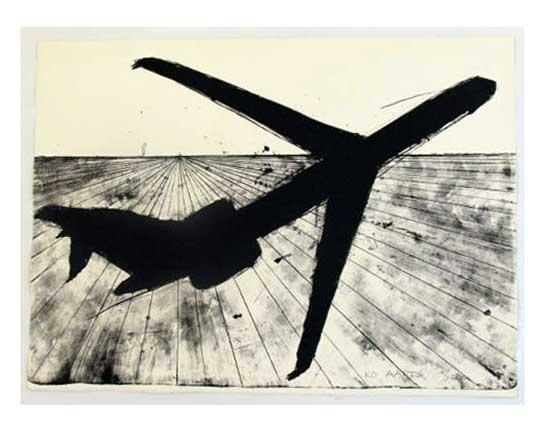z.t. (vliegtuig zwart, rechte vleugels) (1992)