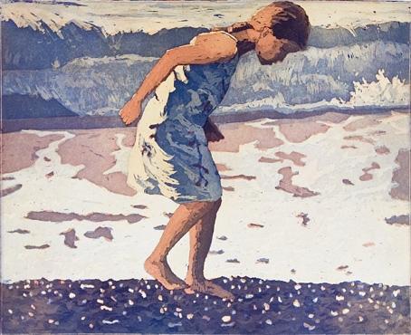 Julia op het strand