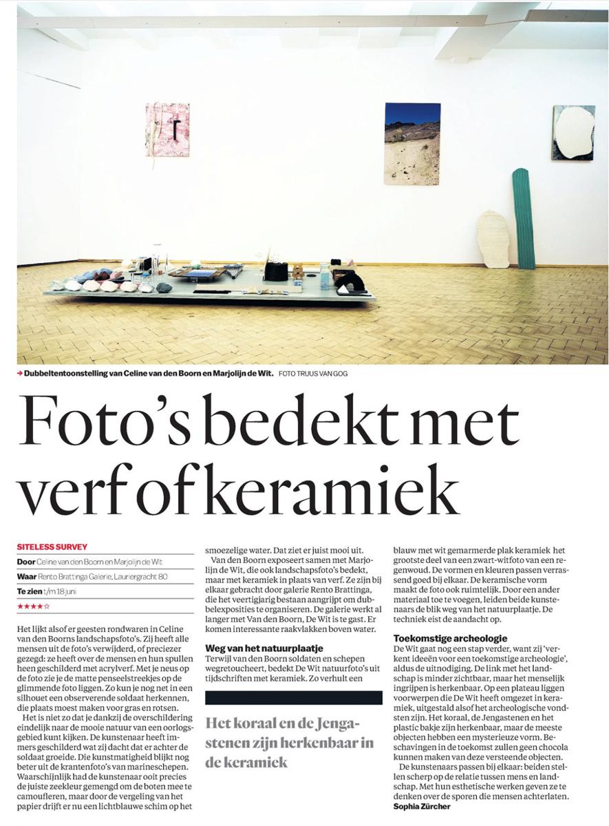 Celine van den Boorn | Marjolijn de Wit | Het Parool
